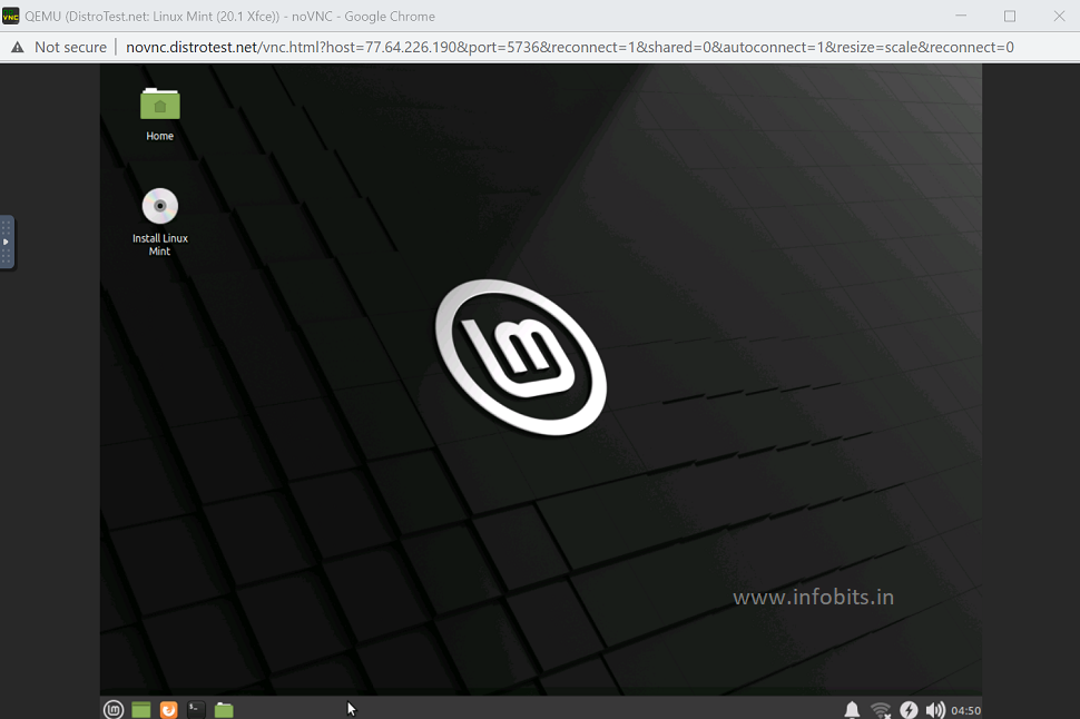 Linux mint in DistroTest